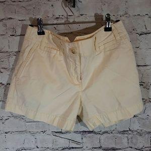 Ann Taylor LOFT cream colored shorts